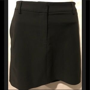 THEORY Career Stretchy Mini A Line Black Skirt